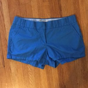 J. Crew chino broken-in blue shorts
